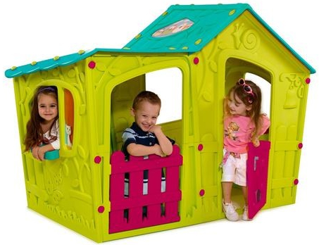 Detské domčeky Keter oslnia deti žiarivými farbami.