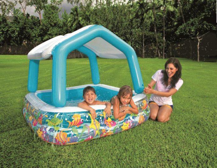 Nafukovací detský bazén s clonou