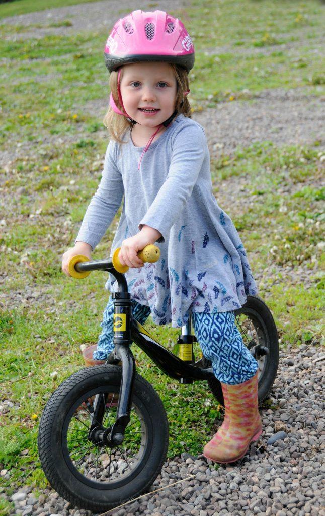 Detský bicykel bez pedálov