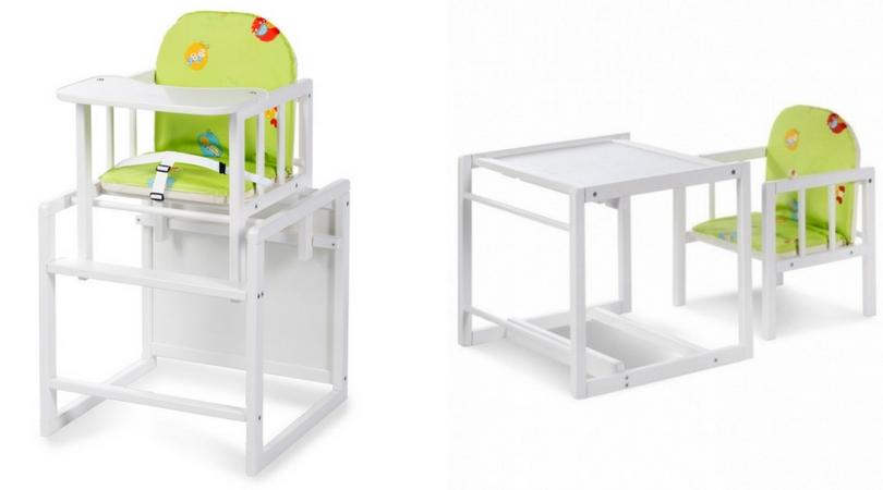 Detská jedálenská stolička a stolík v jednom