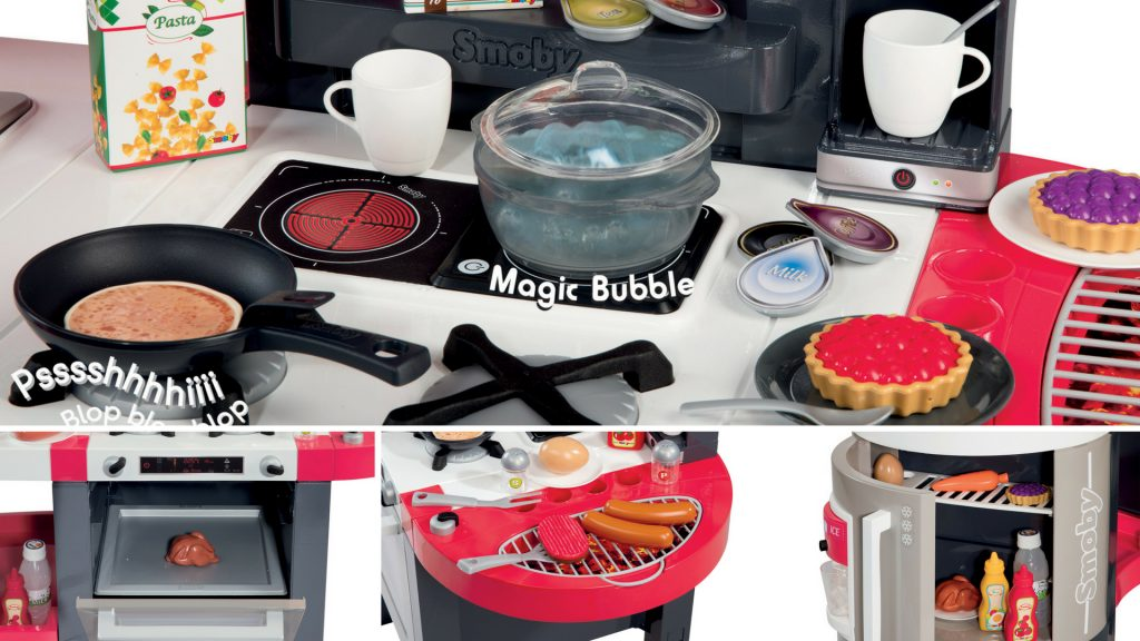 Detaily kuchynky Smoby tefal Supe Chef Deluxe