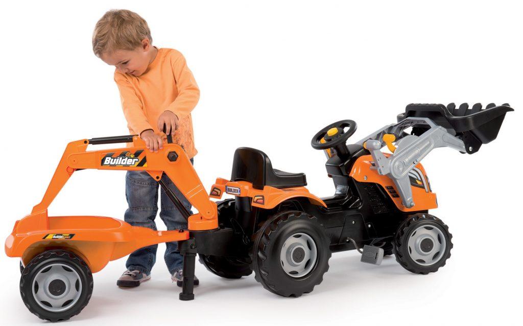 Smoby veľký traktor pre deti Max s bagrom