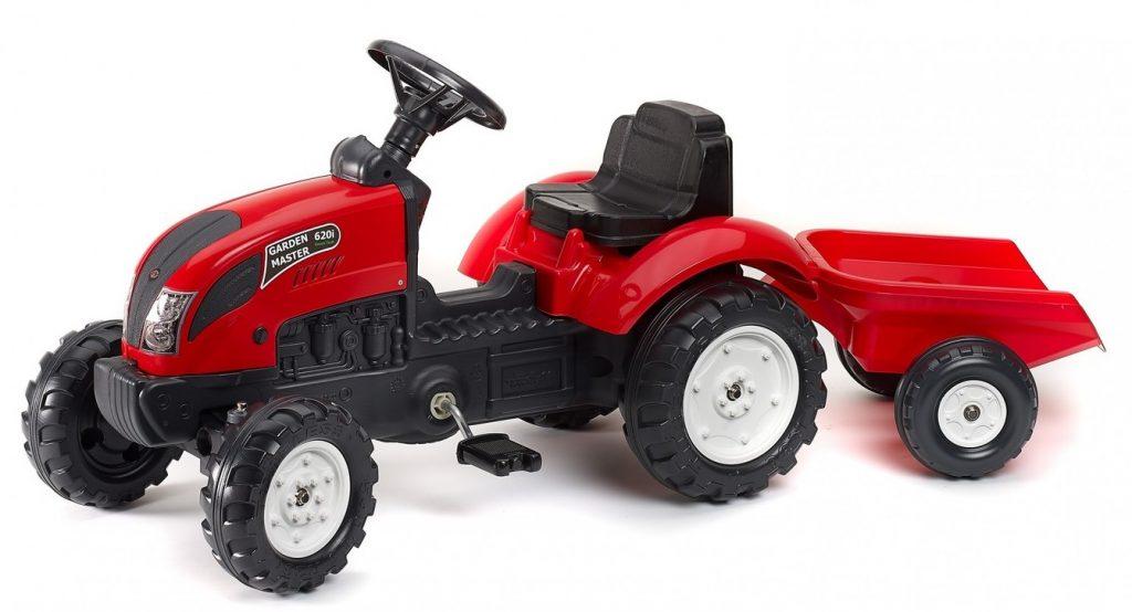 Falk traktor pre deti Garden s vlečkou červený