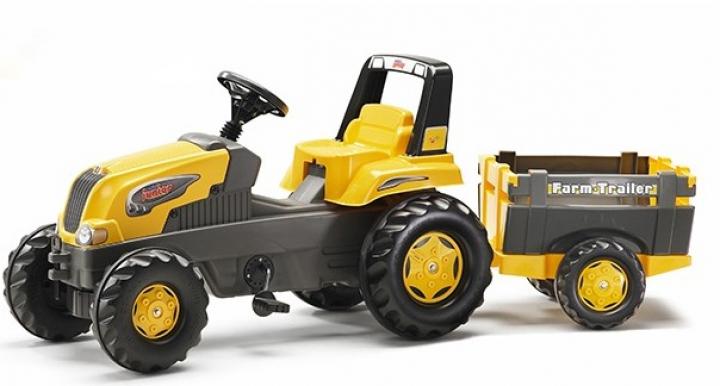 Rolly Toys Junior traktor pre deti s vlečkou