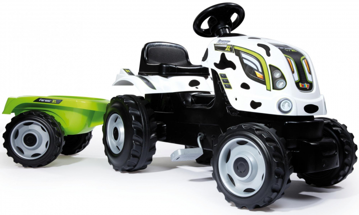 Veľký šliapací traktor pre deti Smoby