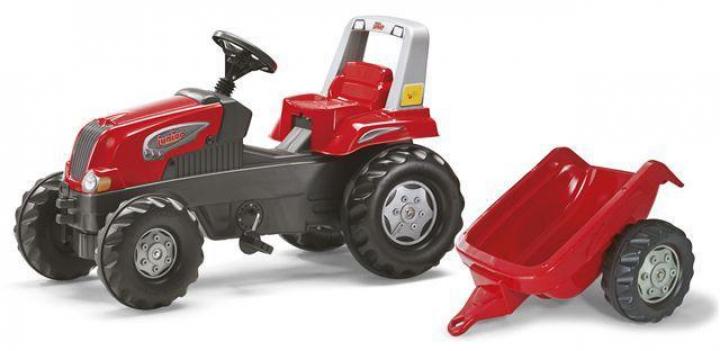 Šlapací traktor pre deti s vlečkou Rolly Toys