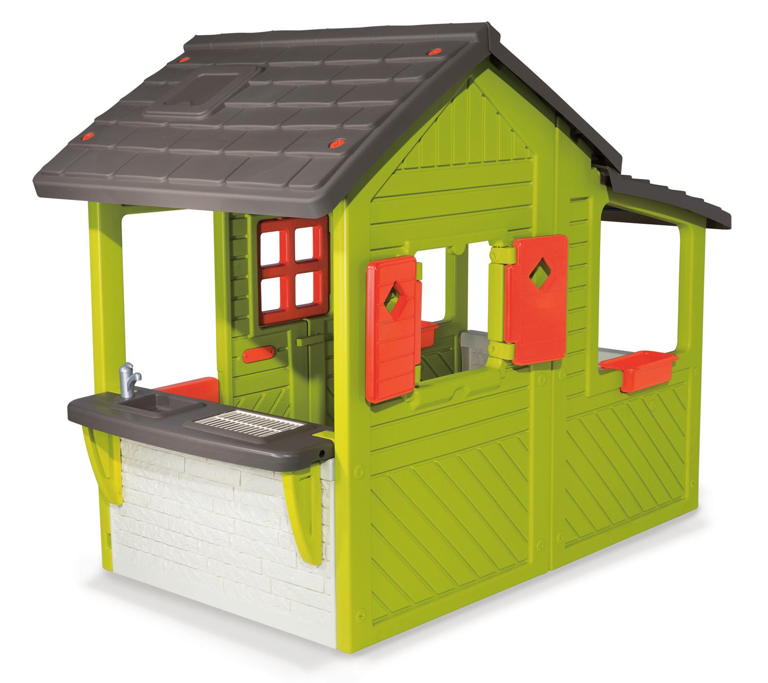 8deb7a2764295 Smoby detský záhradný domček Floralie. Jedinečným prvkom domčeka je aj  zvonček na dverách a polovičné dvere. Výška otvoru dverí na domčeku je 100  cm.