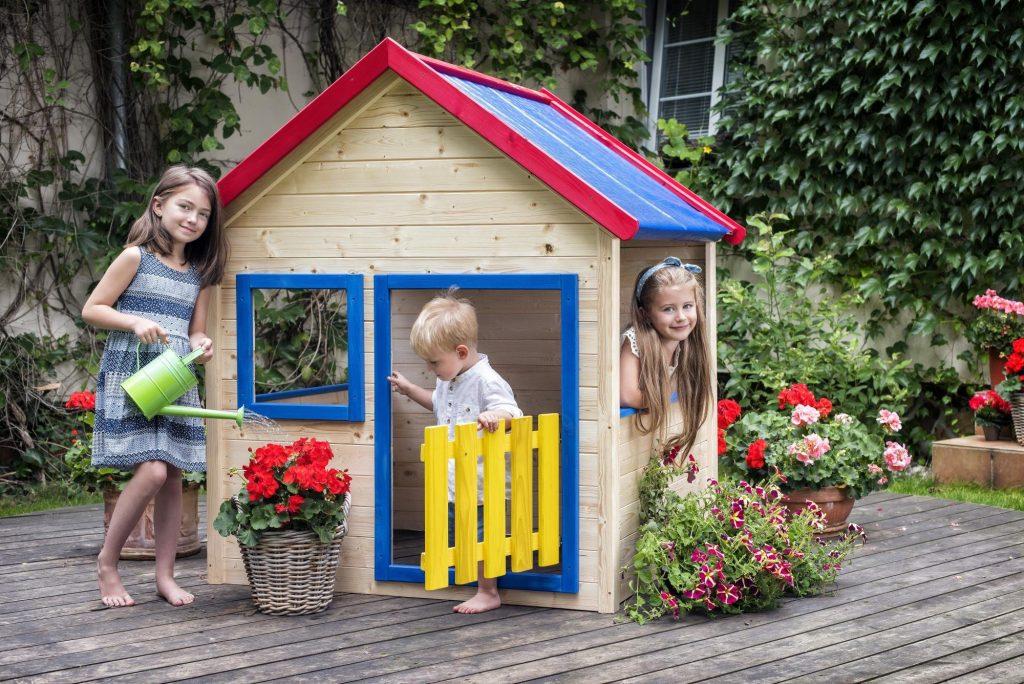 Woody detský záhradný domček drevený