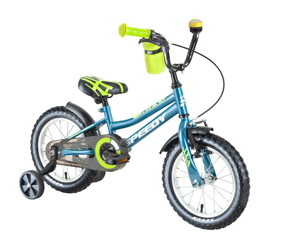 14 palcový bicykel pre deti Speedy modrý