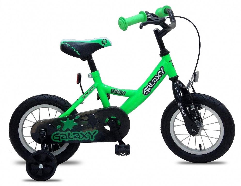 12 palcový bicykel pre deti Fénix zelený