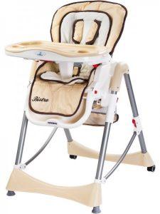 Lacné jedálenské stoličky pre deti Caretero Bistro