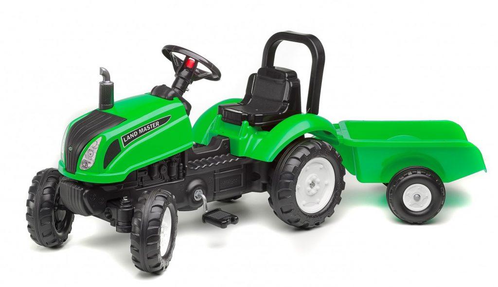 Šliapací traktor Falk pre deti od 2 rokov Land Master zelený