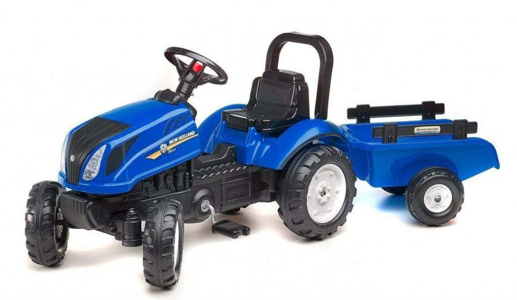 Falk šliapací traktor pre deti s vlečkou New Holland 3080AB