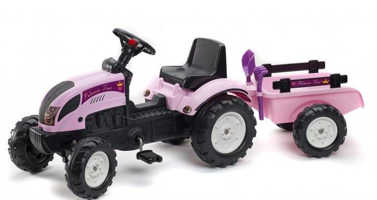 Šliapací traktor Falk pre dievčatá Princess