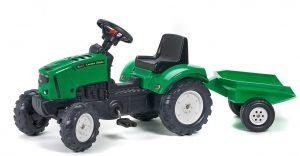 detský šliapací traktor Falk Lander s vlečkou