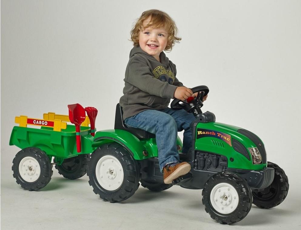 šliapací traktor Falk pre deti od 2 rokov Ranch Track zelený
