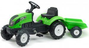Šliapací traktor Falk pre deti od 2 rokov s vlečkou Garden zelený