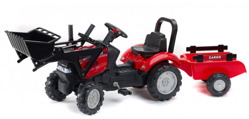 Šliapací traktor Falk pre deti s nakladačom Case