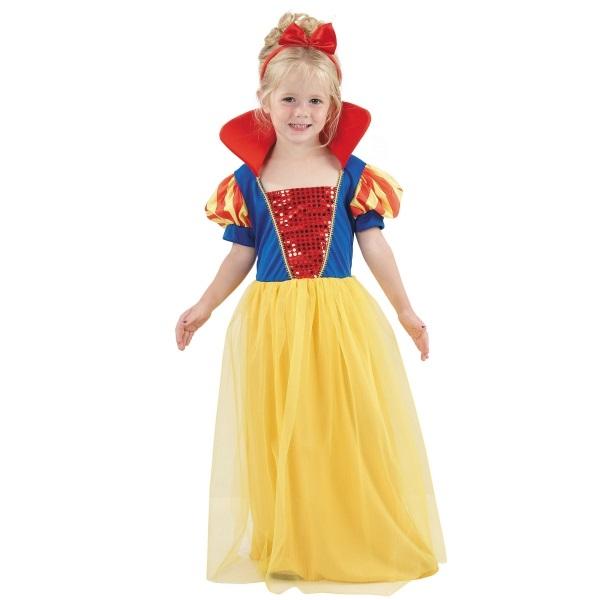 Detská maska na karneval Snehulienka