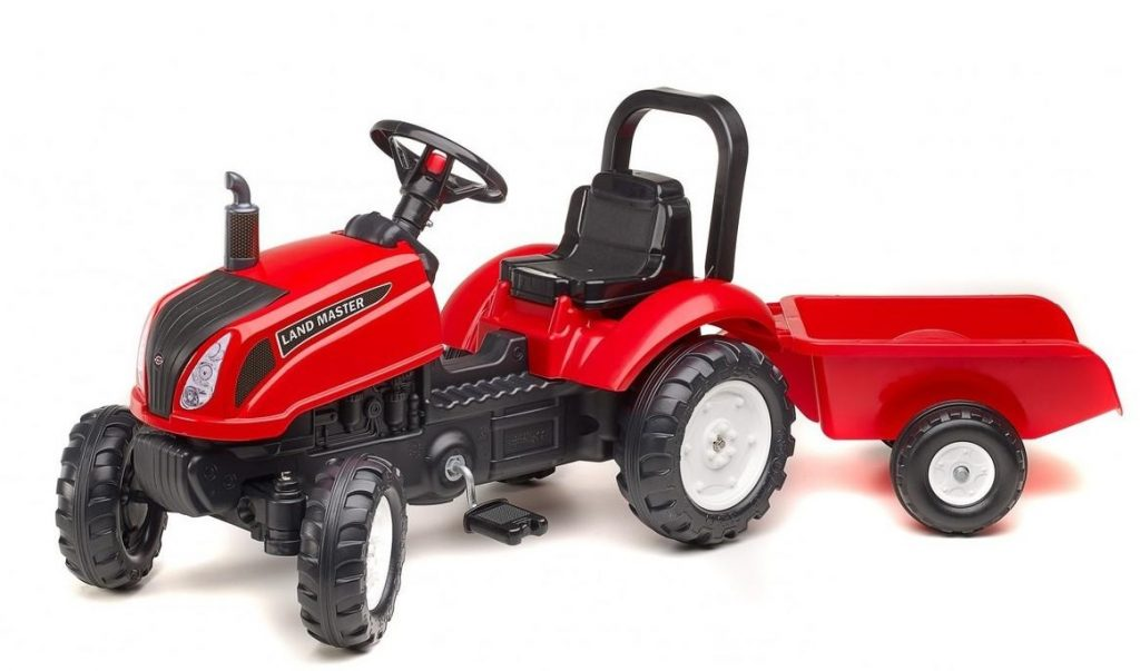 Šliapací traktor Falk pre deti od 2 rokov Land Master červený