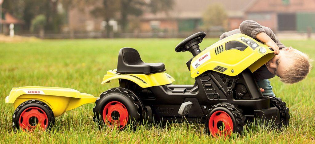 Šliapací traktor Smoby Claas pre deti od 3 rokov