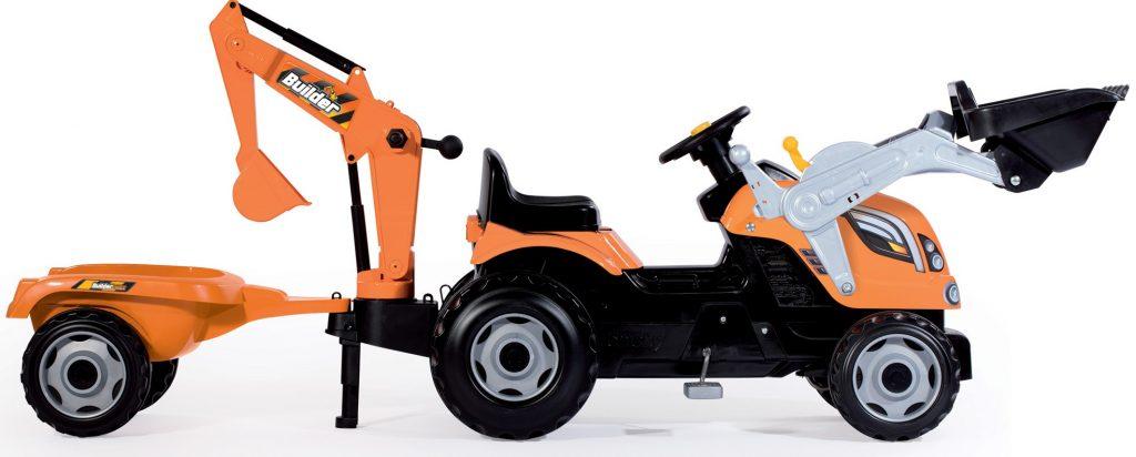 Smoby detský traktor Max Builder recenzia