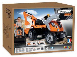 Smoby detský traktor Max Builder v krabici