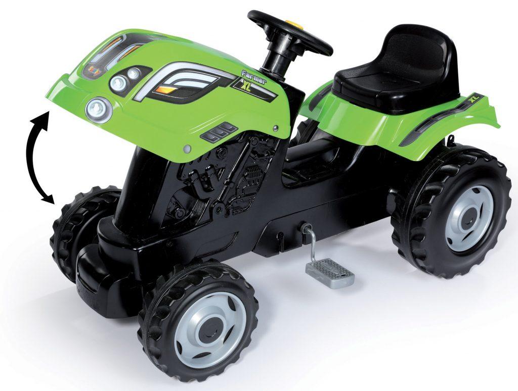 Smoby detský traktor Farmer XL s otvárateľnou kapotou