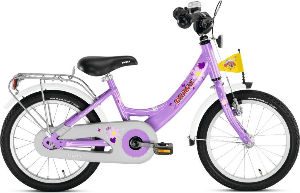 Puky detský bicykel 16 fialový