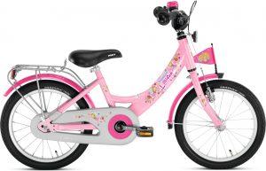 Ružový detský bicykel 16 Puky