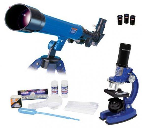 Telskop s mikroskopom tip na darček pre chlapca