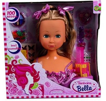 Hlava na česanie vianočné hračky pre dievčatá